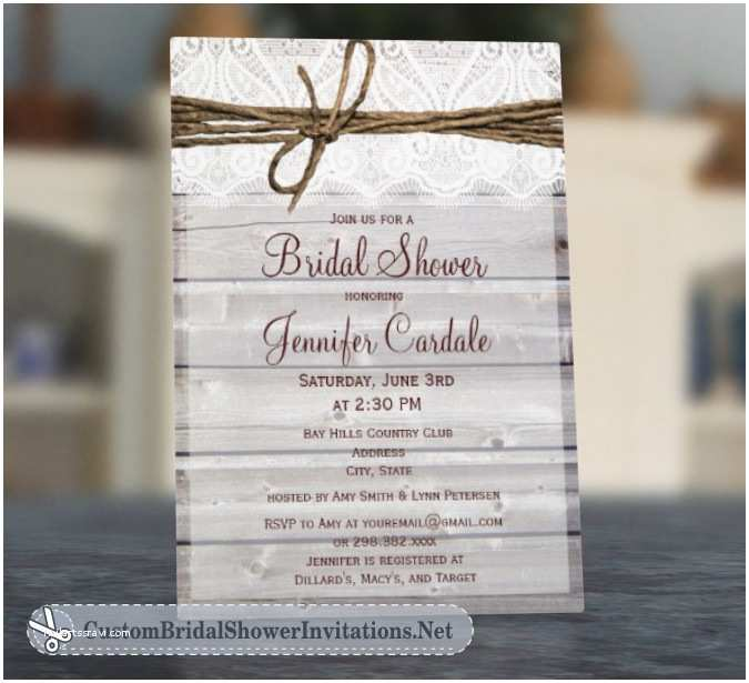 Rustic Wedding Shower Invitations Wedding Invitation Templates and Wording