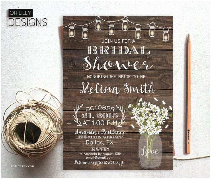 Rustic Wedding Shower Invitations Wedding Invitation Templates Rustic Wedding Shower