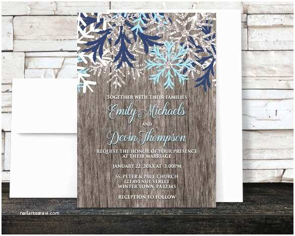 Rustic Winter Wedding Invitations 15 Winter Wedding Invitation Templates – Free Sample