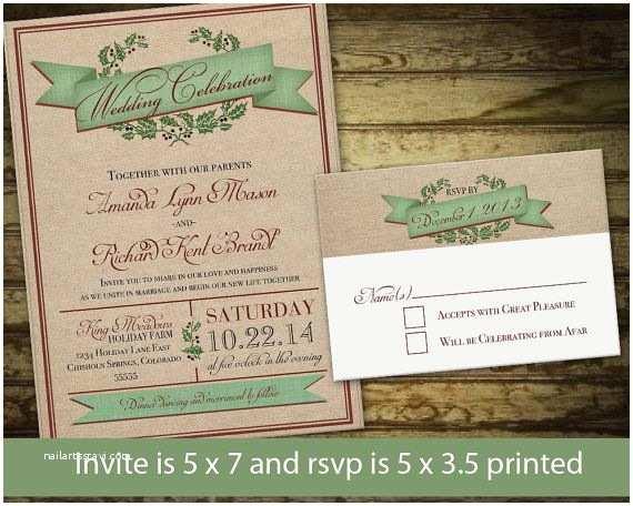 Rustic Winter Wedding Invitations Rustic Country Winter Wedding Invitations and Rsvp Cards