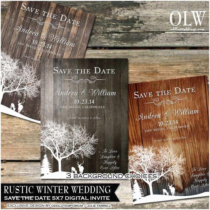 Rustic Winter Wedding Invitations Rustic Winter Wedding Invitations Country Winter by