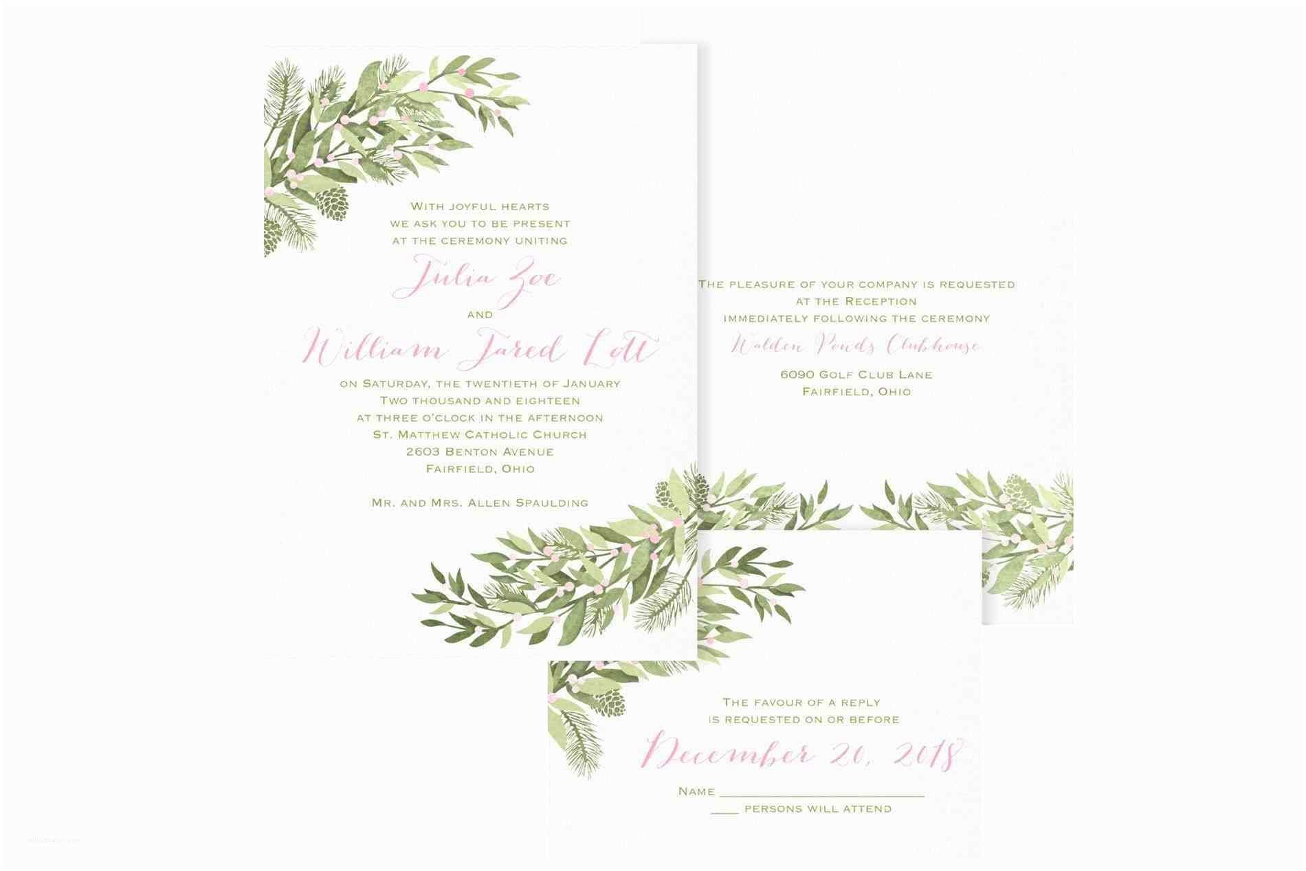 Rustic Winter Wedding Invitations Unique Winter Wedding Invitations