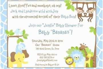 Safari Baby Shower Invitations Baby Boy Safari Shower Invitation