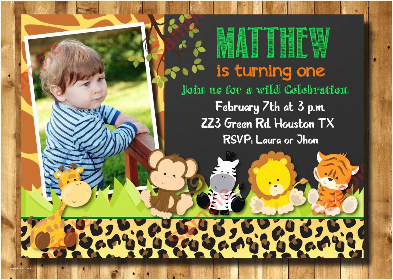 Safari Birthday Invitations Safari Birthday Invitation 1st 2nd 3rd Any Age Birthday