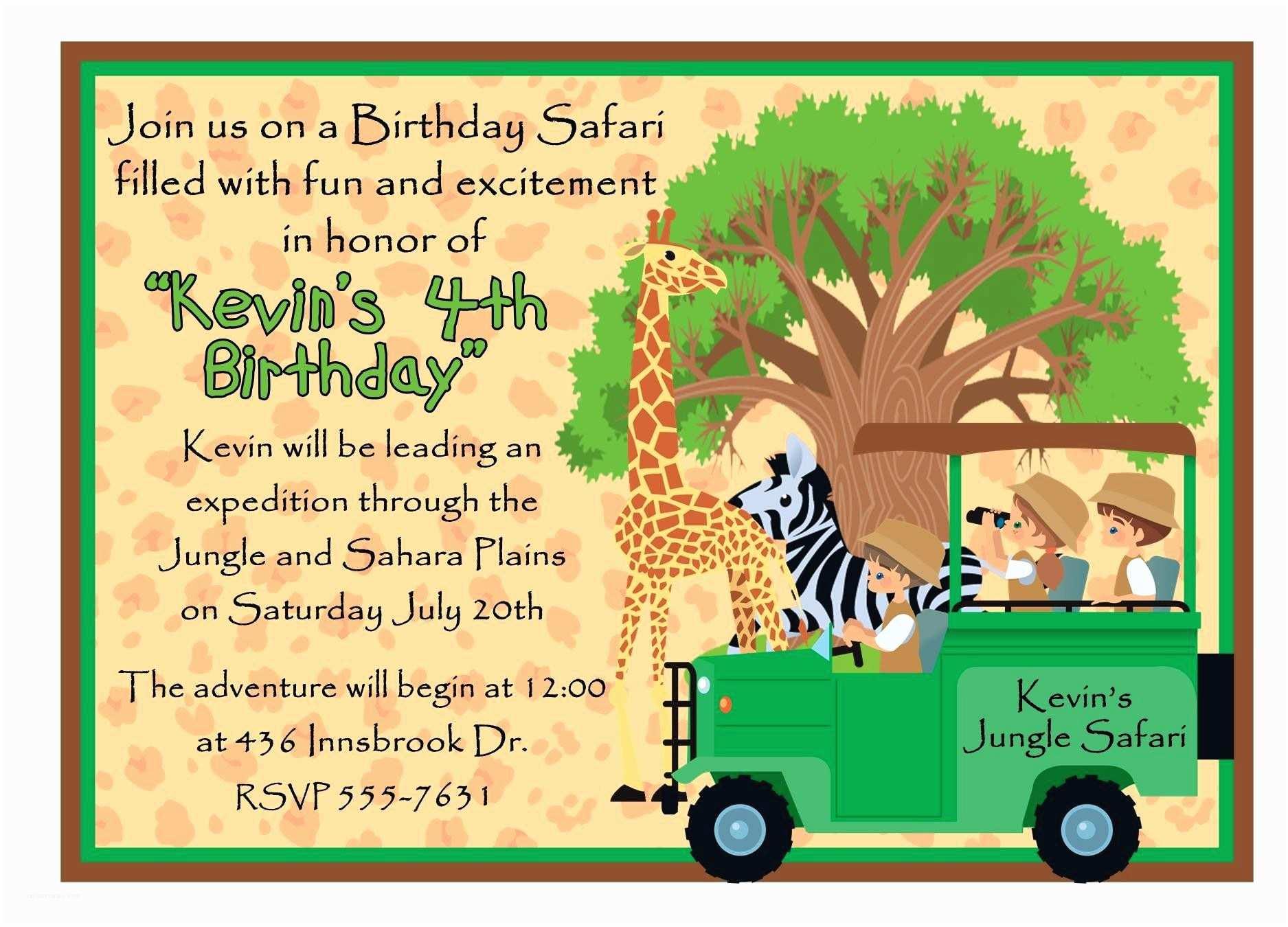 Safari Birthday Invitations Safari Birthday Invitations – Gangcraft