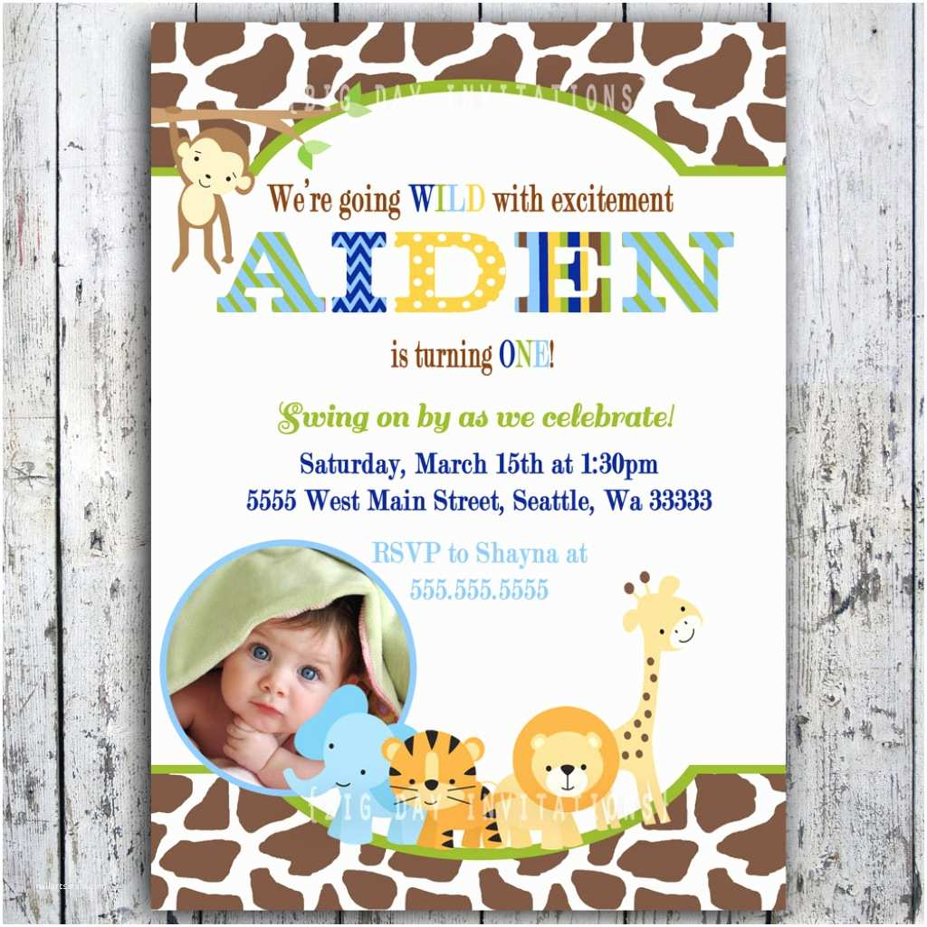 45 Safari Birthday Invitations