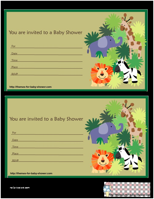 Safari theme Baby Shower Invitations 6 Free Printable Safari Baby Shower Invitations
