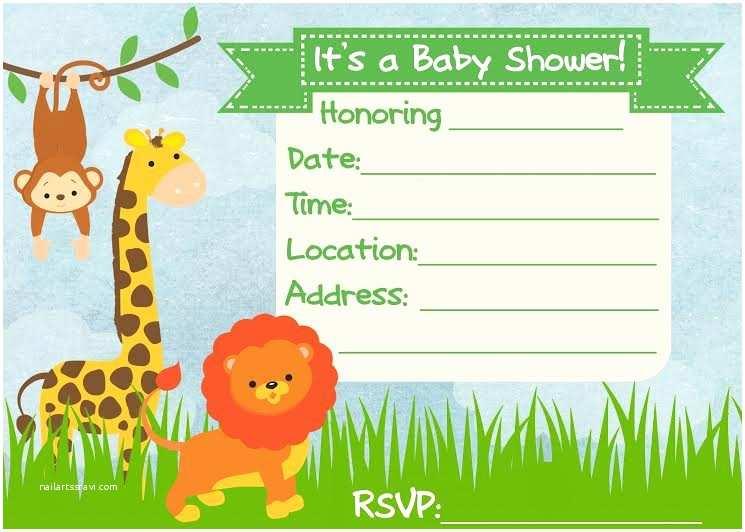 Safari theme Baby Shower Invitations Baby Shower Invitation Jungle theme Frugal Fanatic