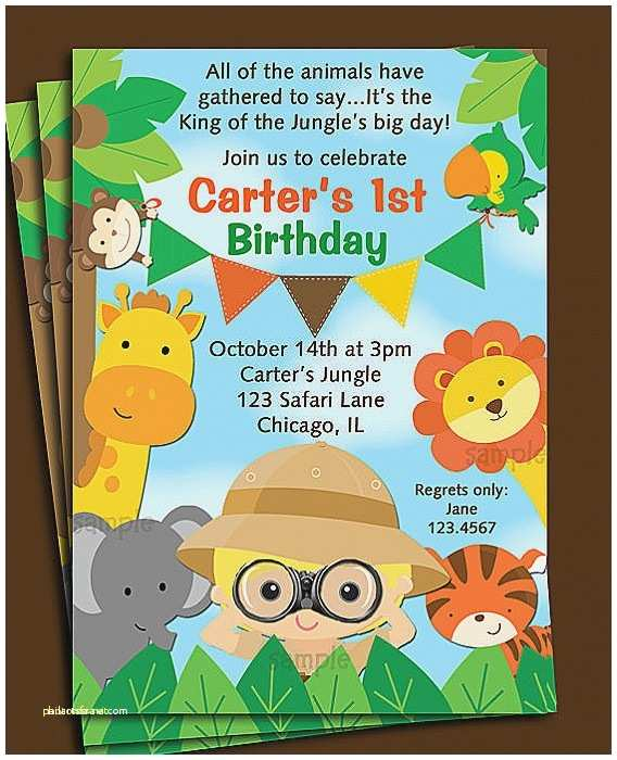Safari theme Baby Shower Invitations Baby Shower Invitation New Jungle theme Baby Shower