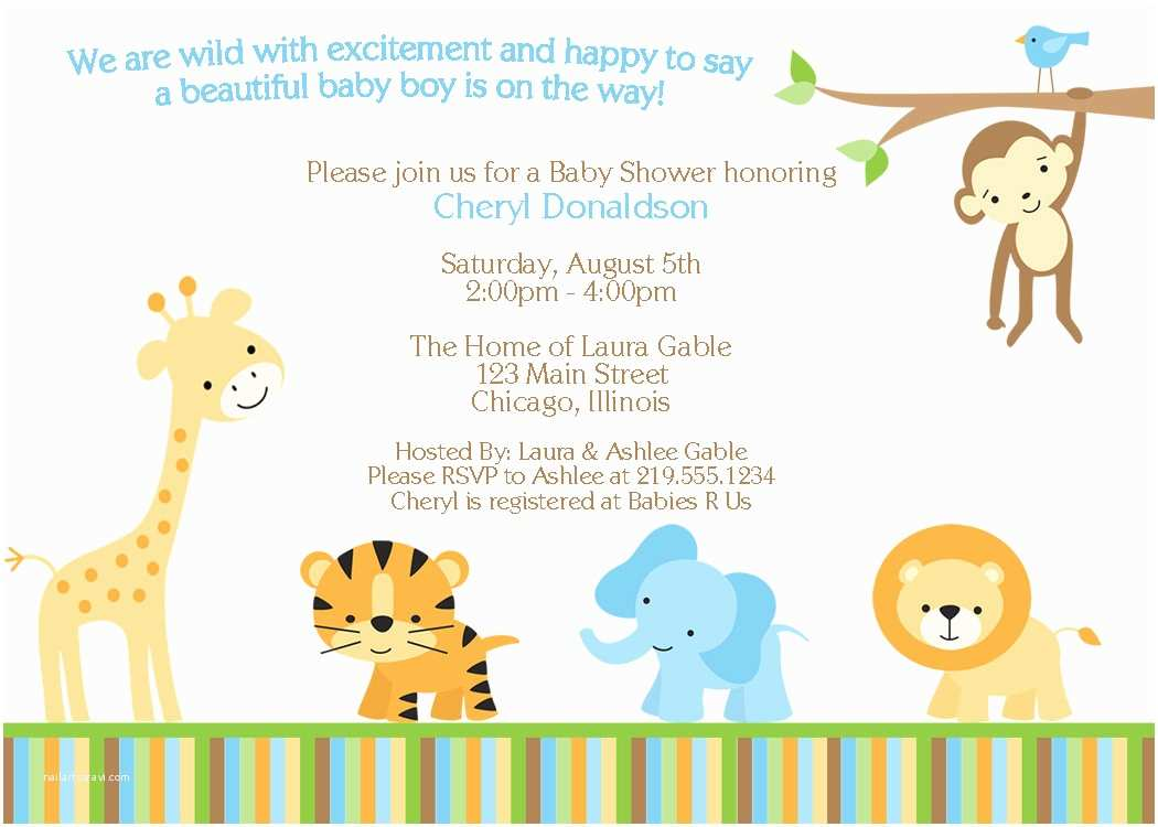 Safari theme Baby Shower Invitations Having A Baby Shower Don T for the Invitations