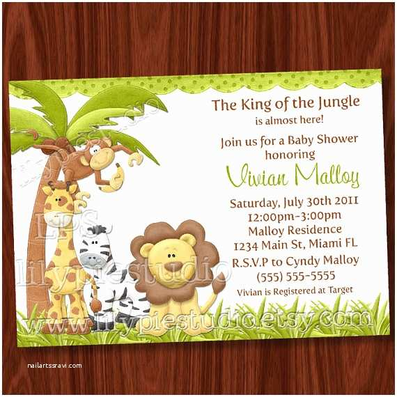 Safari theme Baby Shower Invitations King Of the Jungle Baby Shower Invitation Printable