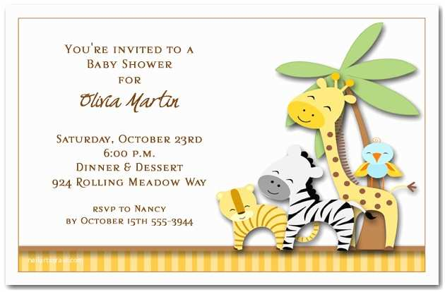 Safari theme Baby Shower Invitations the Invitation Shop Party Blog the Invitation Shop