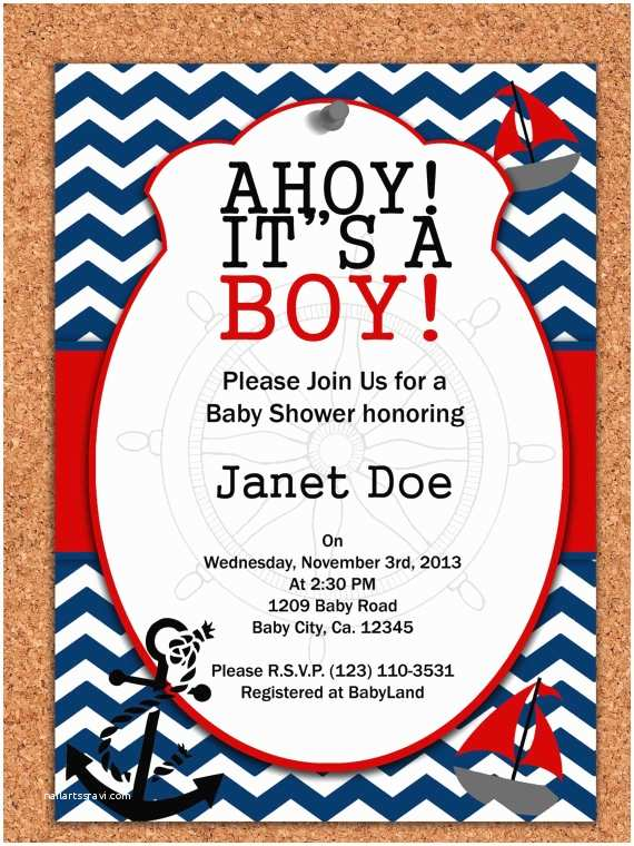 Sailor Baby Shower Invitations 7 Best Of Free Printable Nautical Invitations