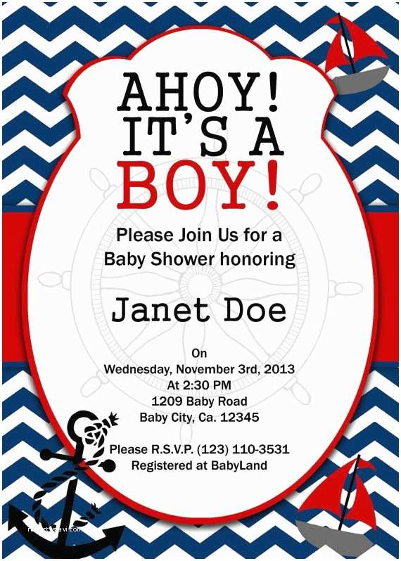 Sailor Baby Shower Invitations 95 Best Images About Baby Shower On Pinterest