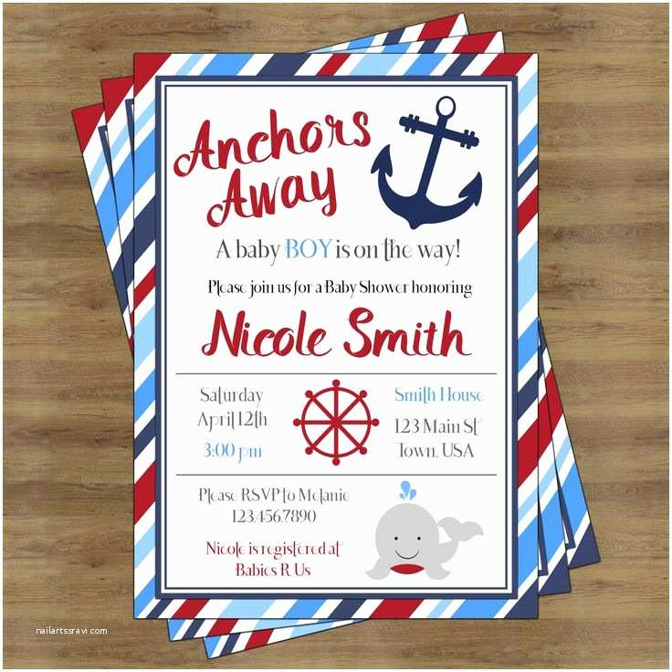 Sailor Baby Shower Invitations Best 25 Anchor Baby Showers Ideas On Pinterest