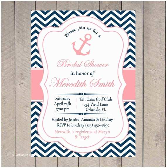 Sailor Baby Shower Invitations Bridal Shower Invitation Nautical Printable Invitation