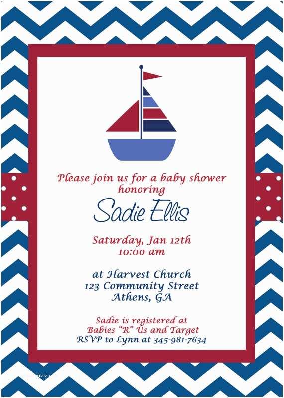 Sailor Baby Shower Invitations Free Nautical Baby Shower Invitation