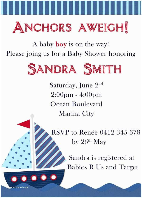 "Sailor Baby Shower Invitations Mother Duck Said ""lets Party "" Nautical Baby Shower"
