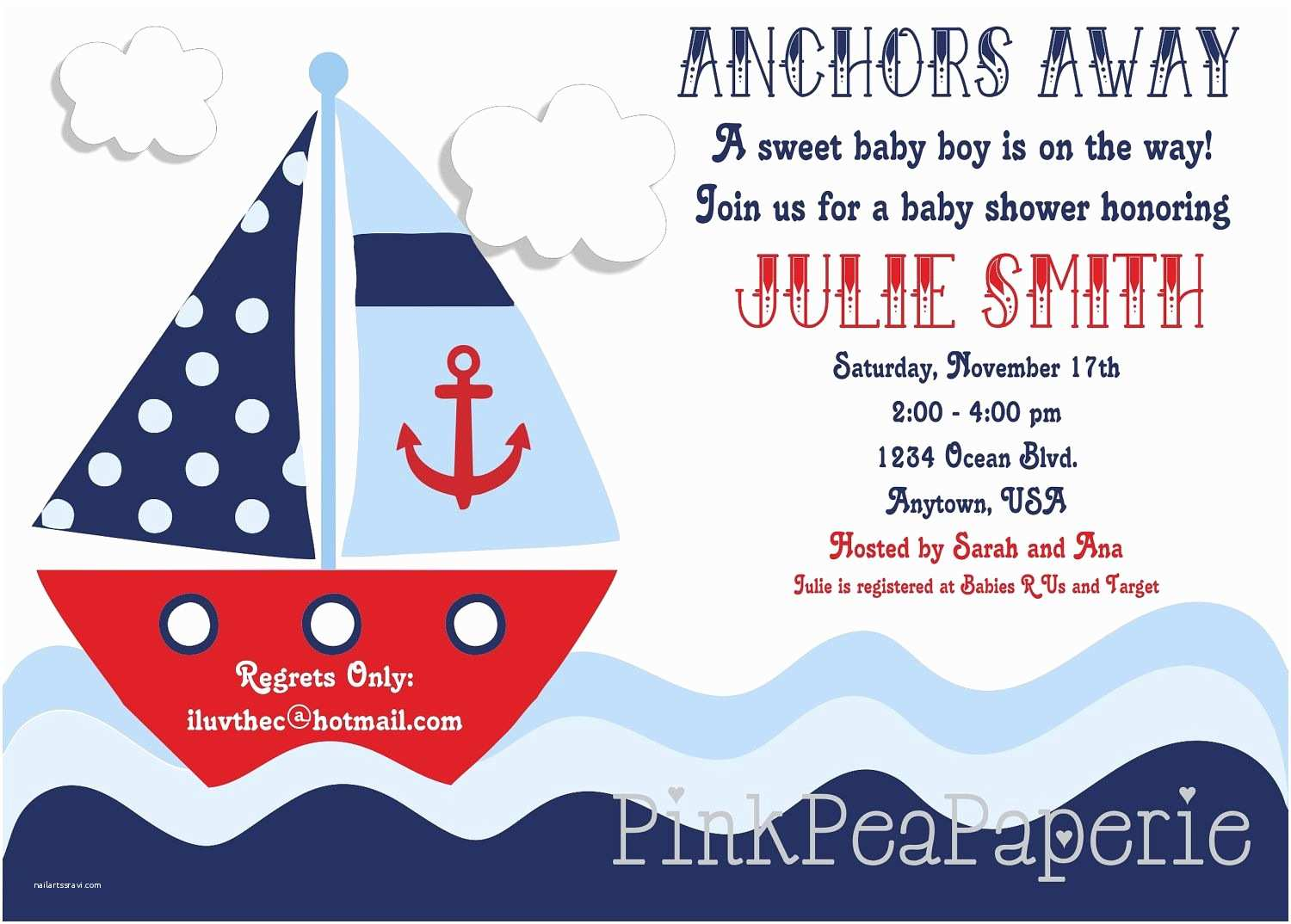 Sailor Baby Shower Invitations Nautical Baby Shower Invitations 5 Hd Wallpapers