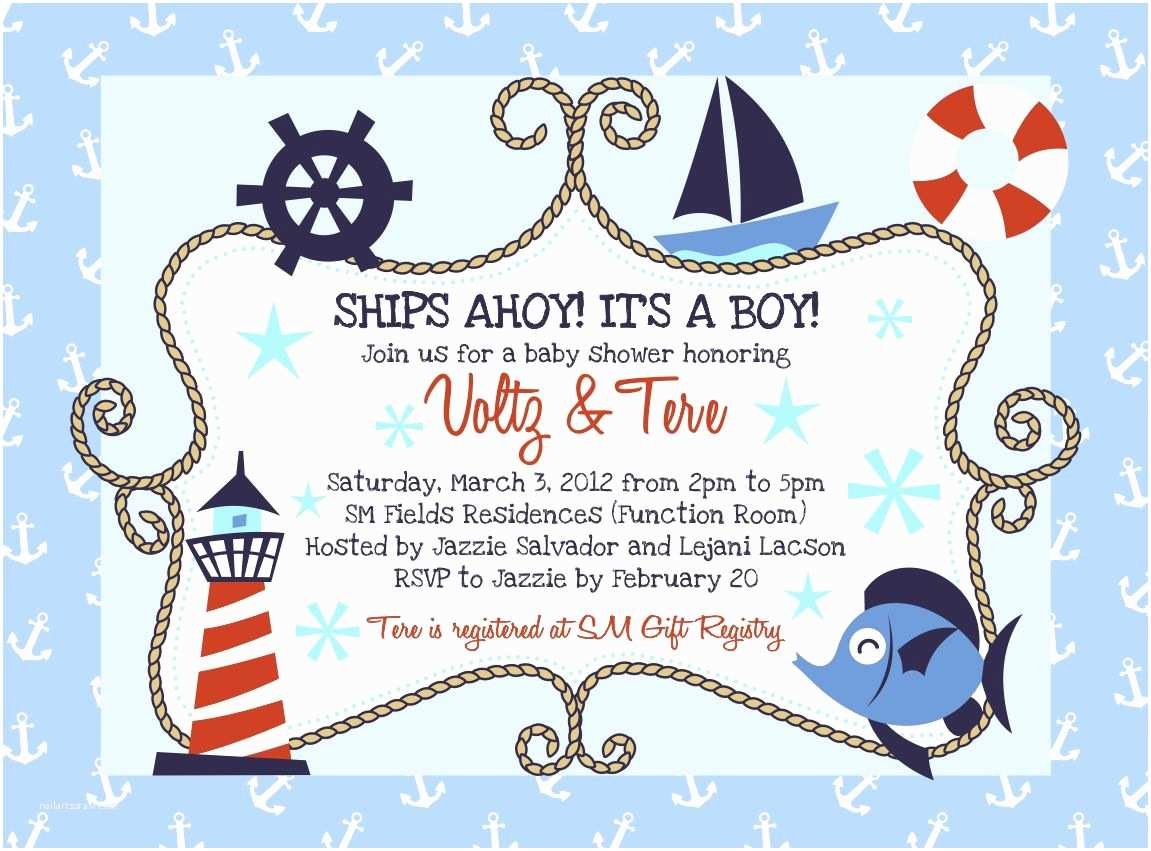 Sailor Baby Shower Invitations Nautical Baby Shower Invitations Baby Shower Decoration