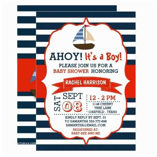 Sailor Baby Shower Invitations Nautical Baby Shower Invitations