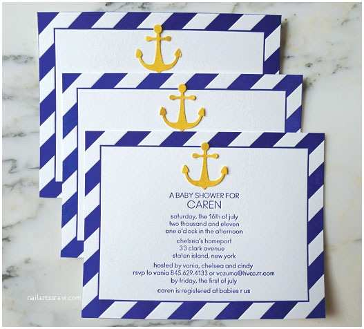 Sailor Baby Shower Invitations Nautical themed Baby Shower Invitations