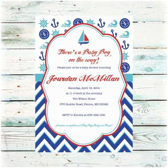 Sailor Baby Shower Invitations Printable Nautical Baby Shower Invitation Baby Boy Shower