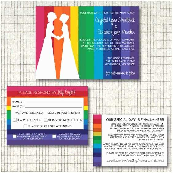 Same Sex Marriage Wedding Invitations Couple Silhouette Same Marriage and Marriage On Pinterest