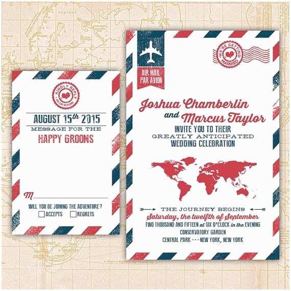 Same Sex Wedding Invitations Cool Design for A Same Destination Wedding