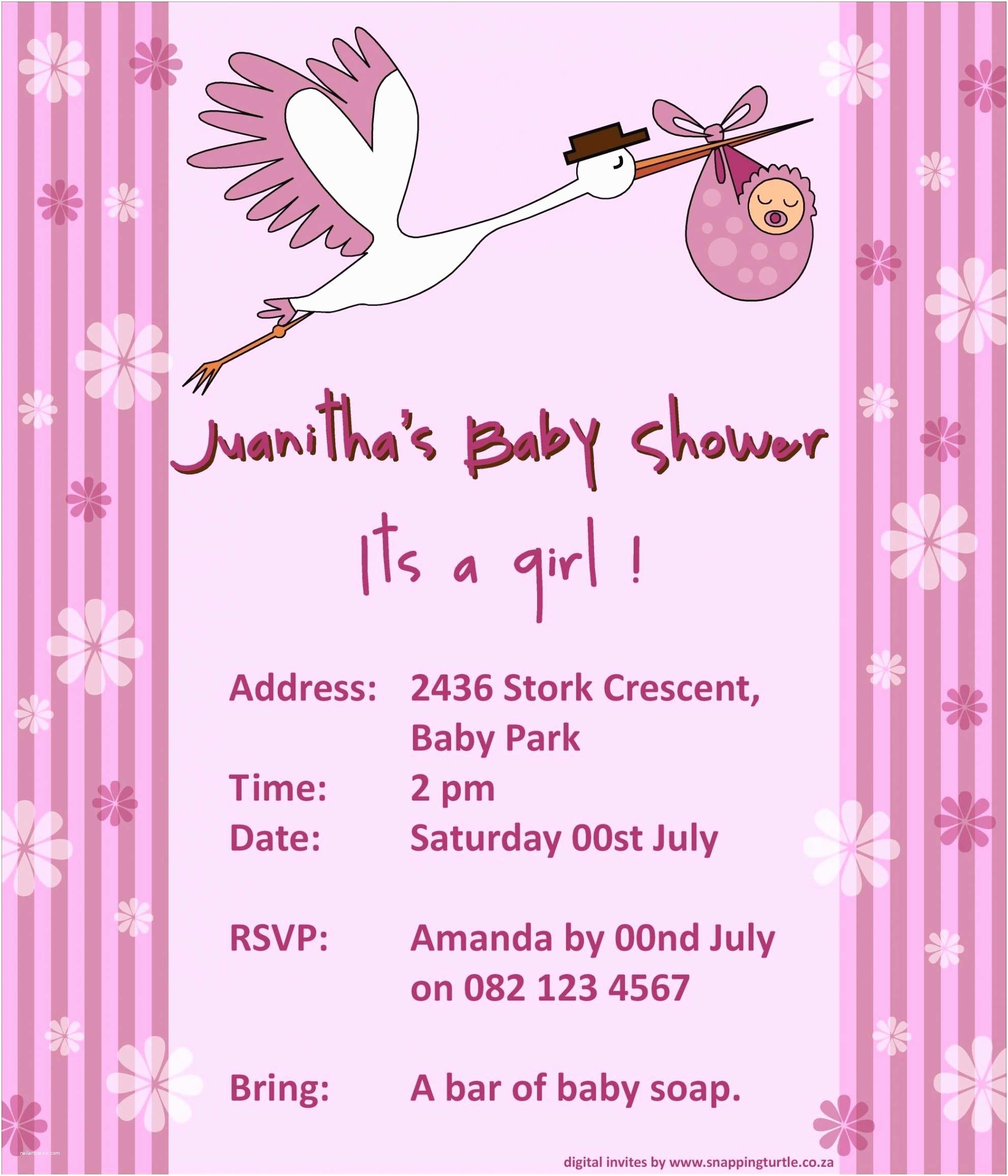 Sample Baby Shower Invitations Email Baby Shower Invitations Template