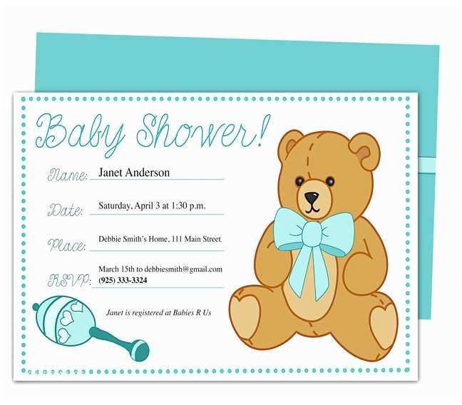 Sample Baby Shower Invitations Sample Baby Shower Invitations