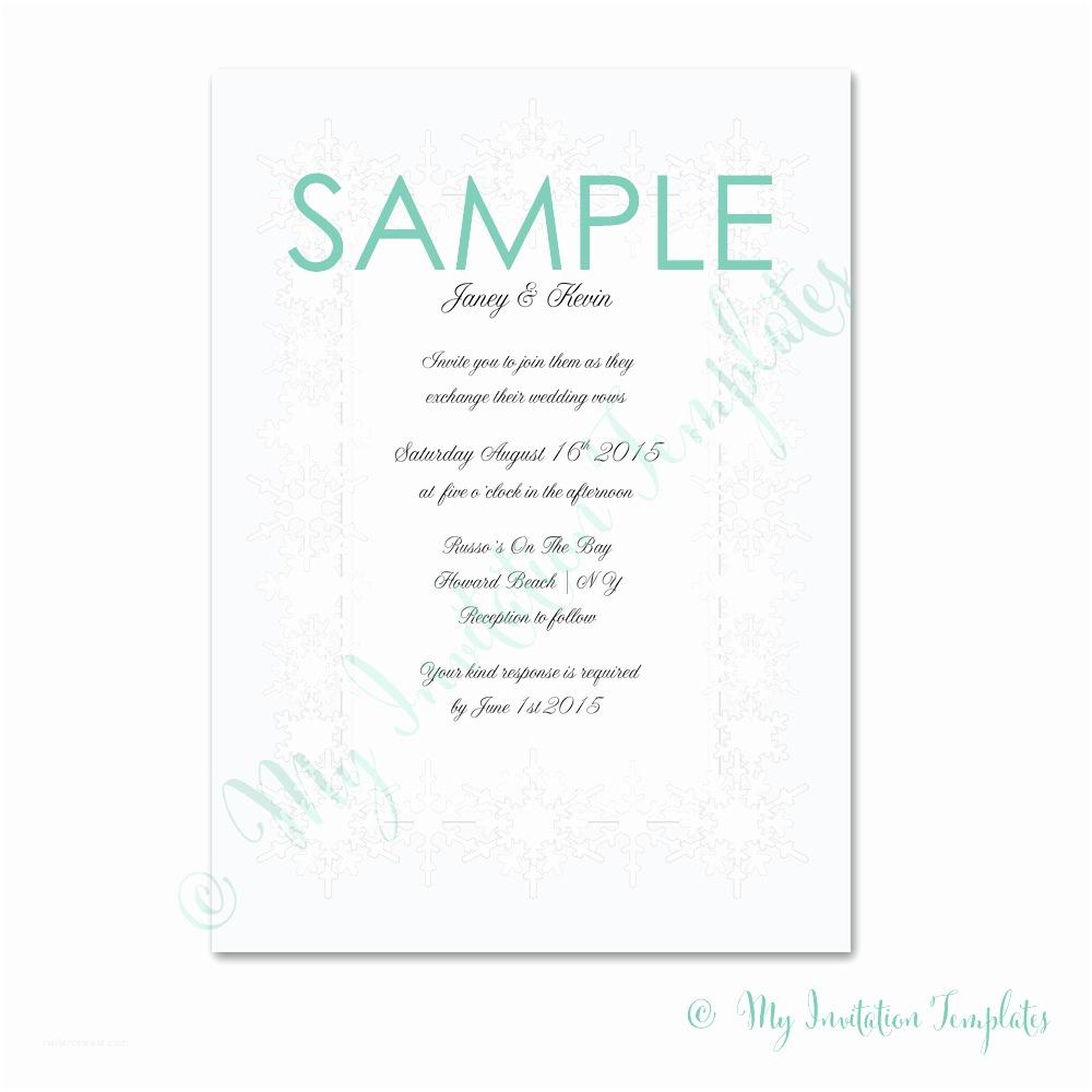 Sample Baby Shower Invitations Winter Wonderland Invitation Template Free Sample