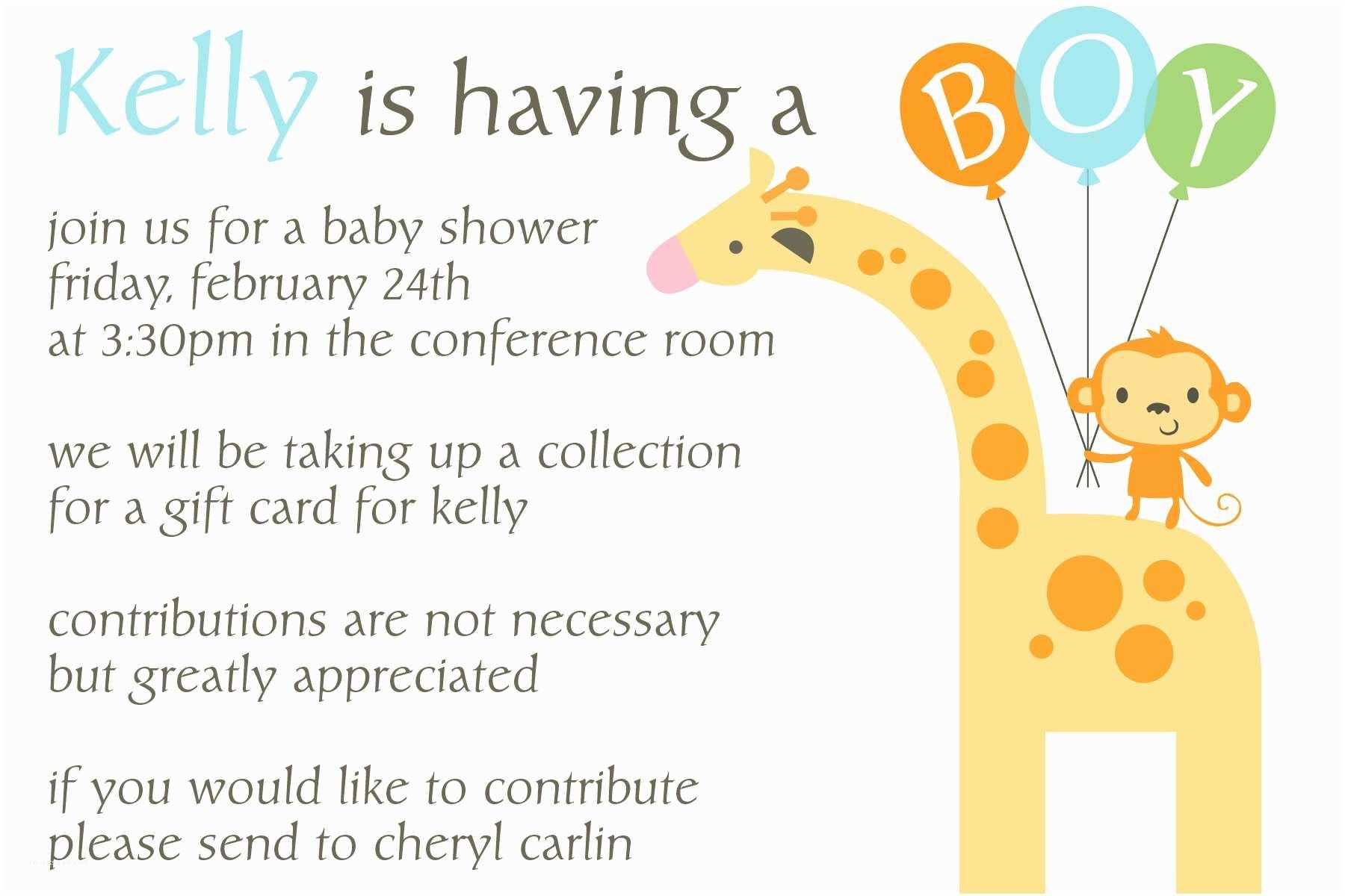 Sample Baby Shower Invitations Work Baby Shower Invitation Wording