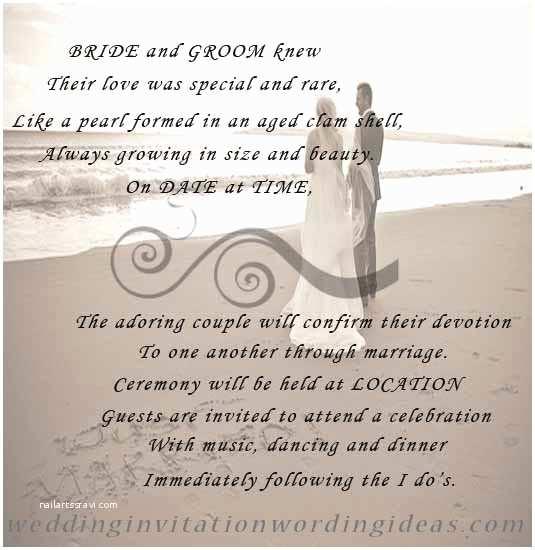 Sample Beach Wedding Invitation Wording Beach themed Wedding Invitations Free Wording Samples