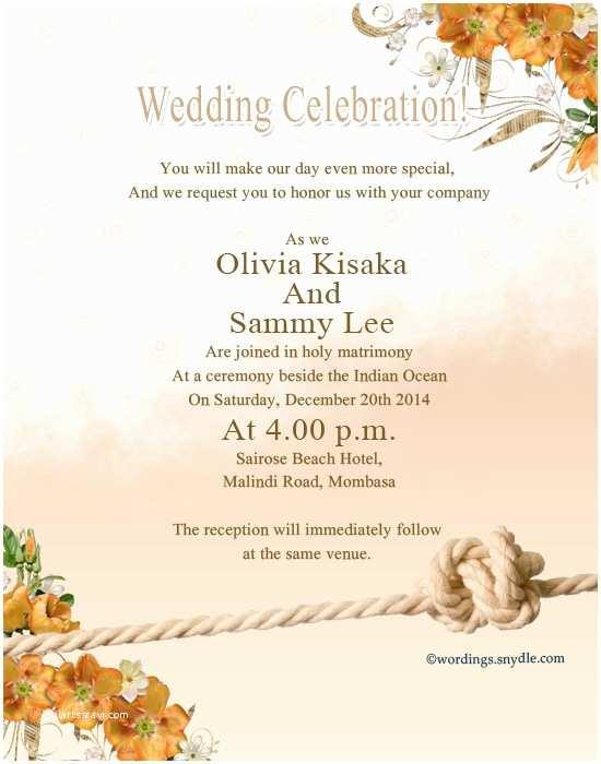 Sample Beach Wedding Invitation Wording Beach Wedding Invitation Wording Samples Wordings and