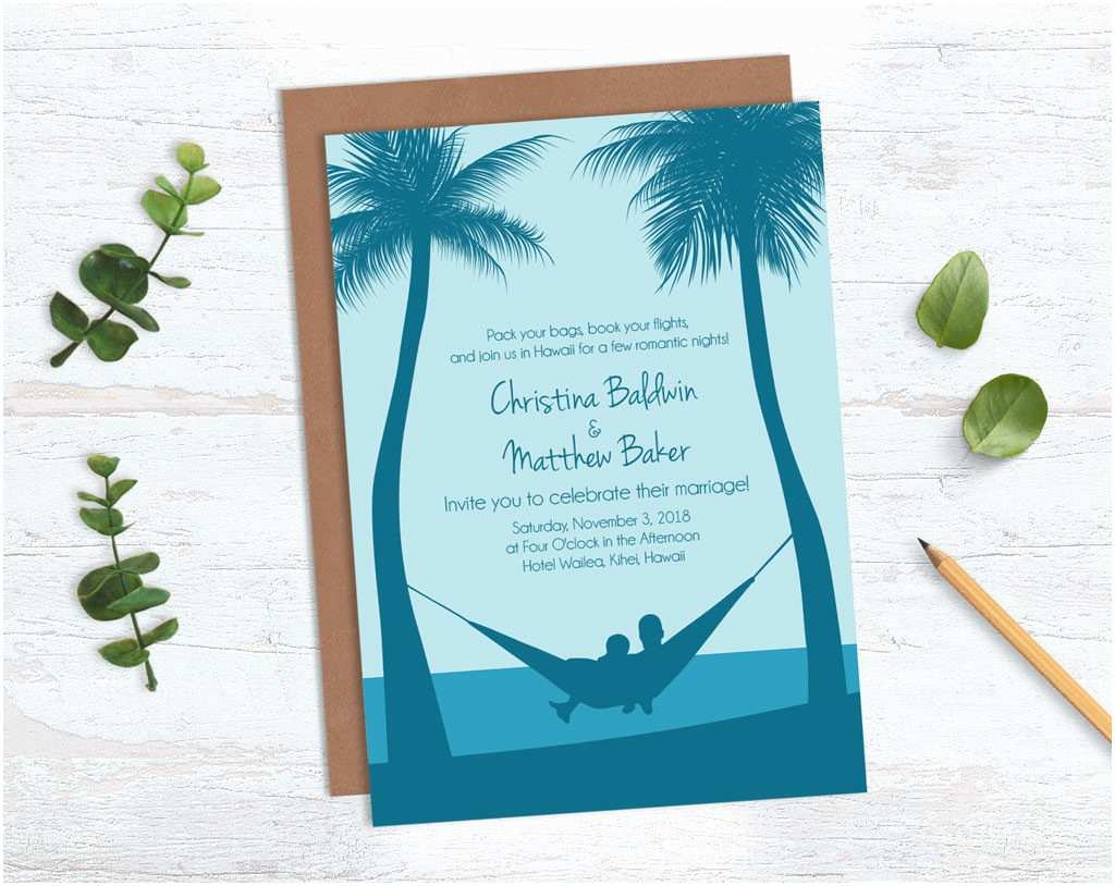 Sample Beach Wedding Invitation Wording Guidelines for Destination Wedding Invitation Wording