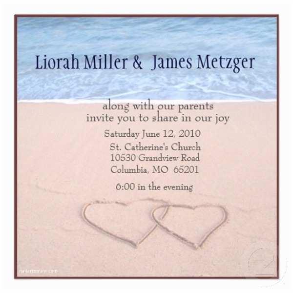 Sample Beach Wedding Invitation Wording Seal and Send Beach Wedding Invitations to Set the tone