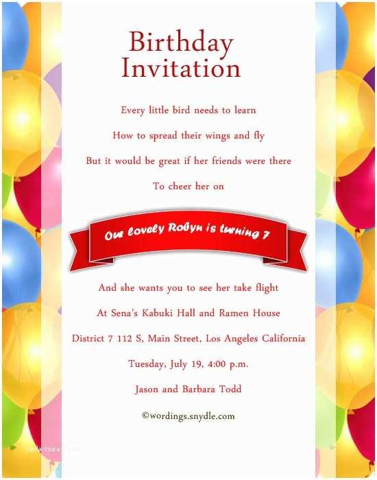 Sample Birthday Invitation Wording Samples Movie Search Engine