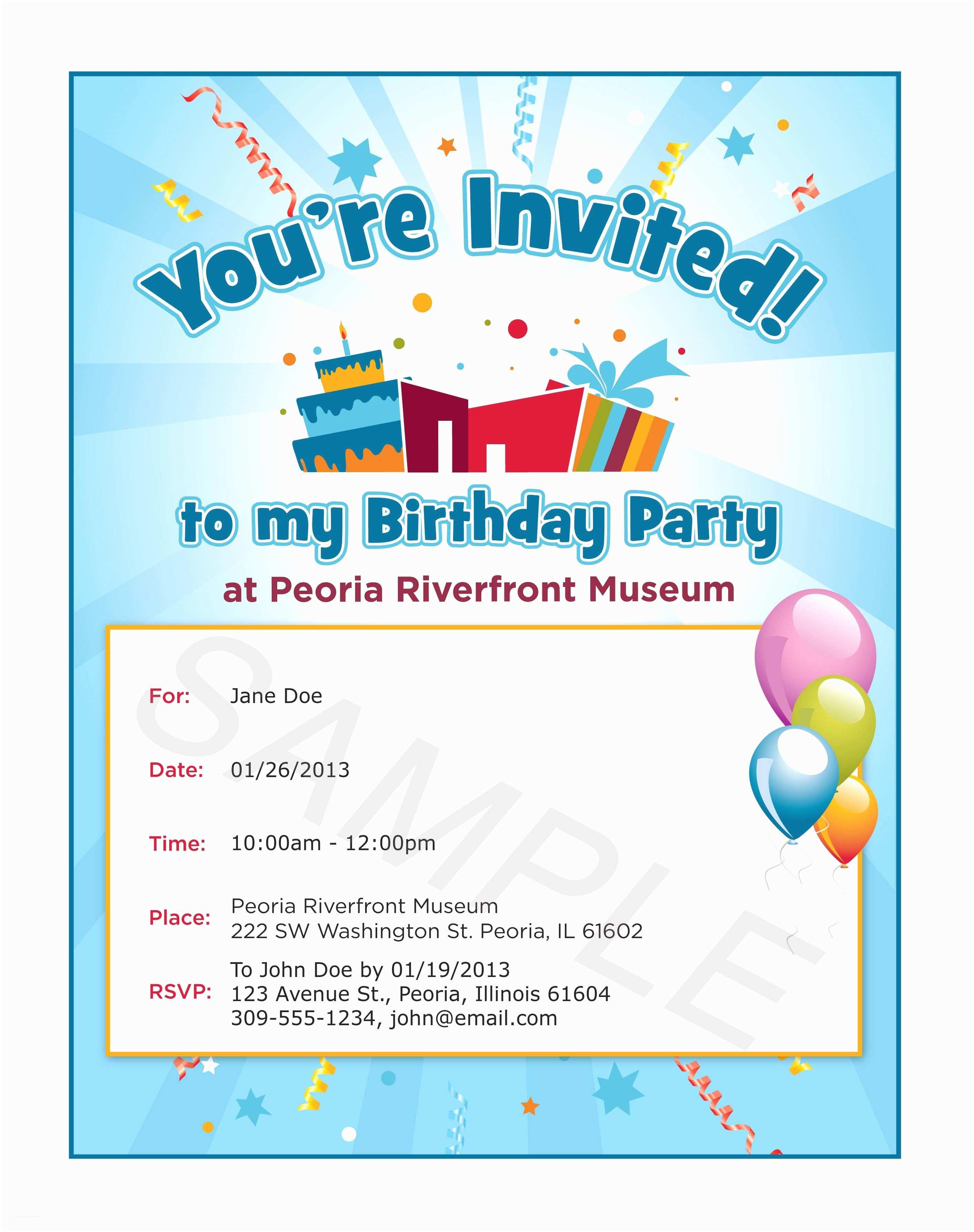 Sample Birthday Invitation Delectable Birthday Invitation