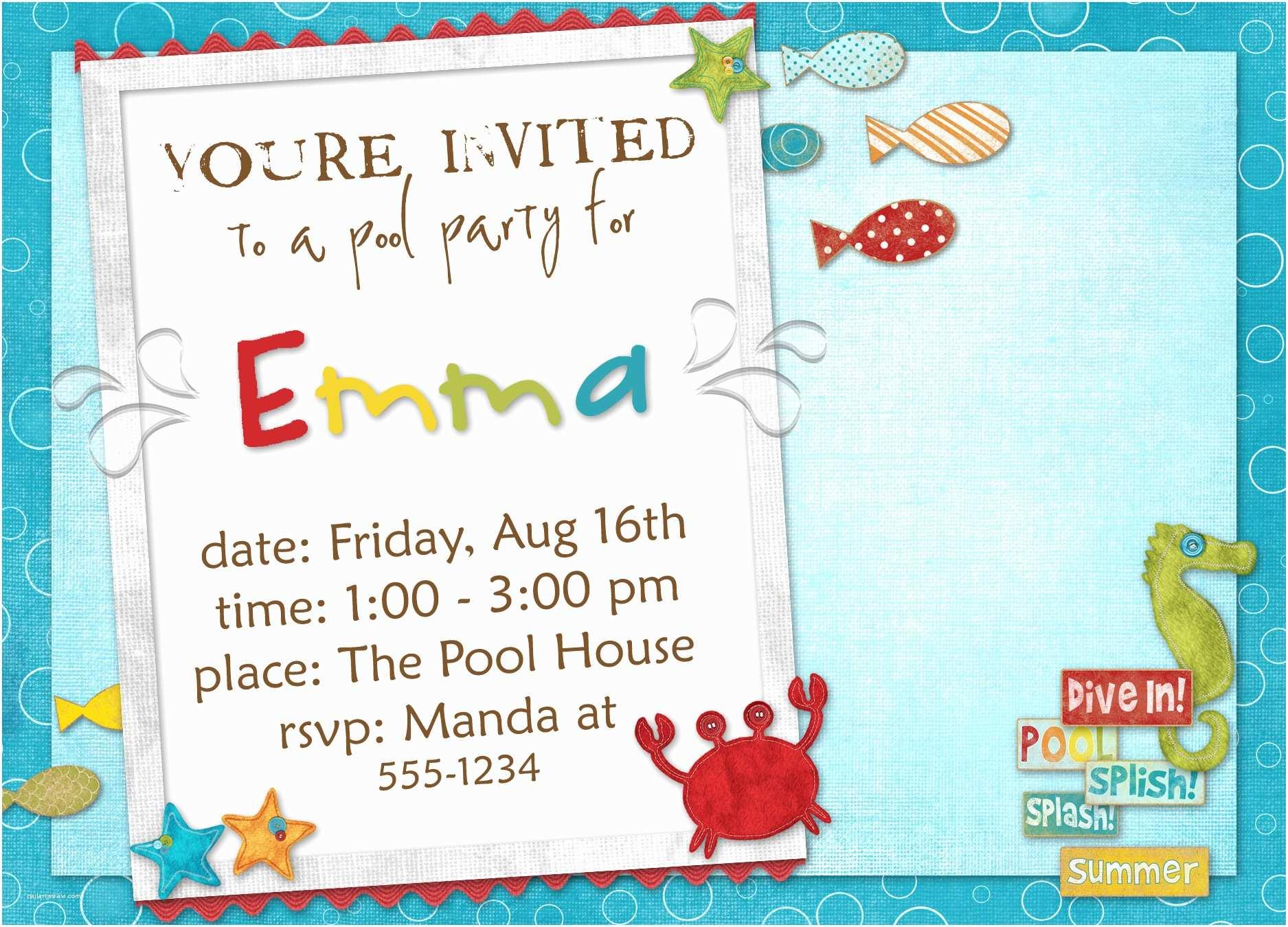 Sample Birthday Invitation formal Invitation for Birthday Image Collections