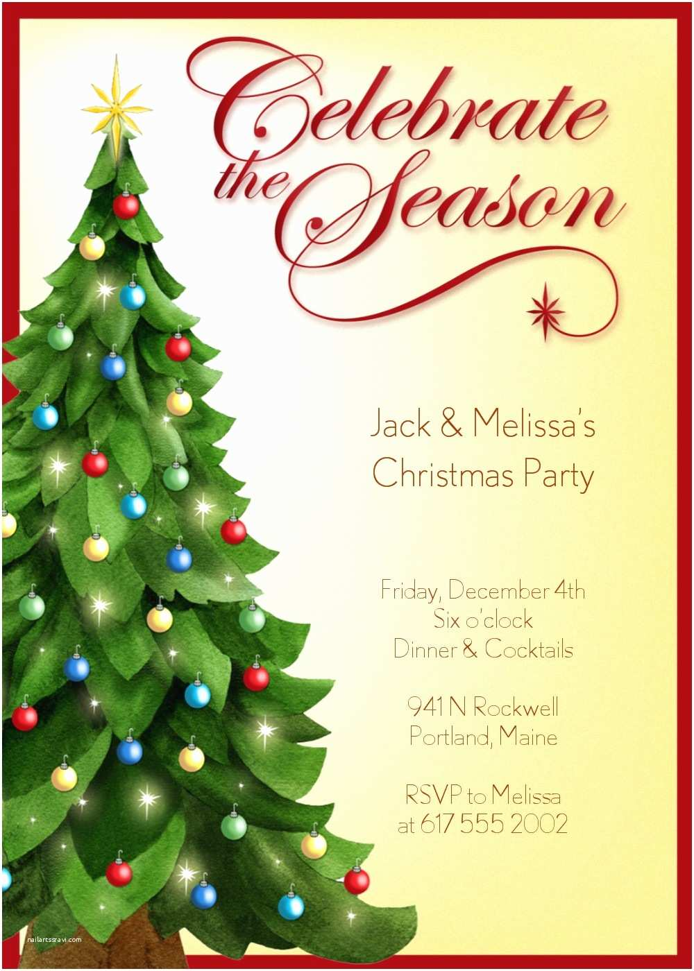 Sample Christmas Party Invitation Party Invitations Christmas Party Invitation Template