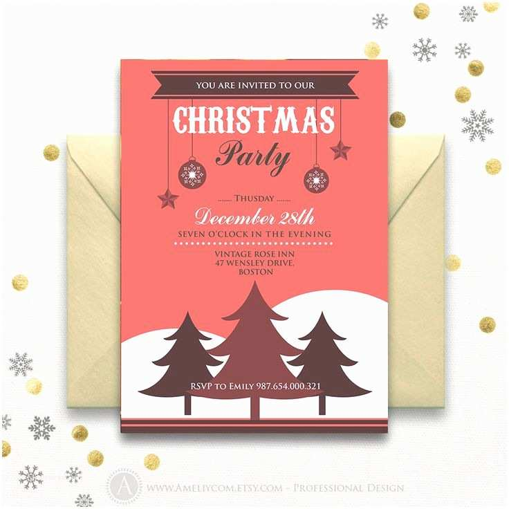 Sample Christmas Party Invitation Sample Invitation Card for Christmas Party – Merry