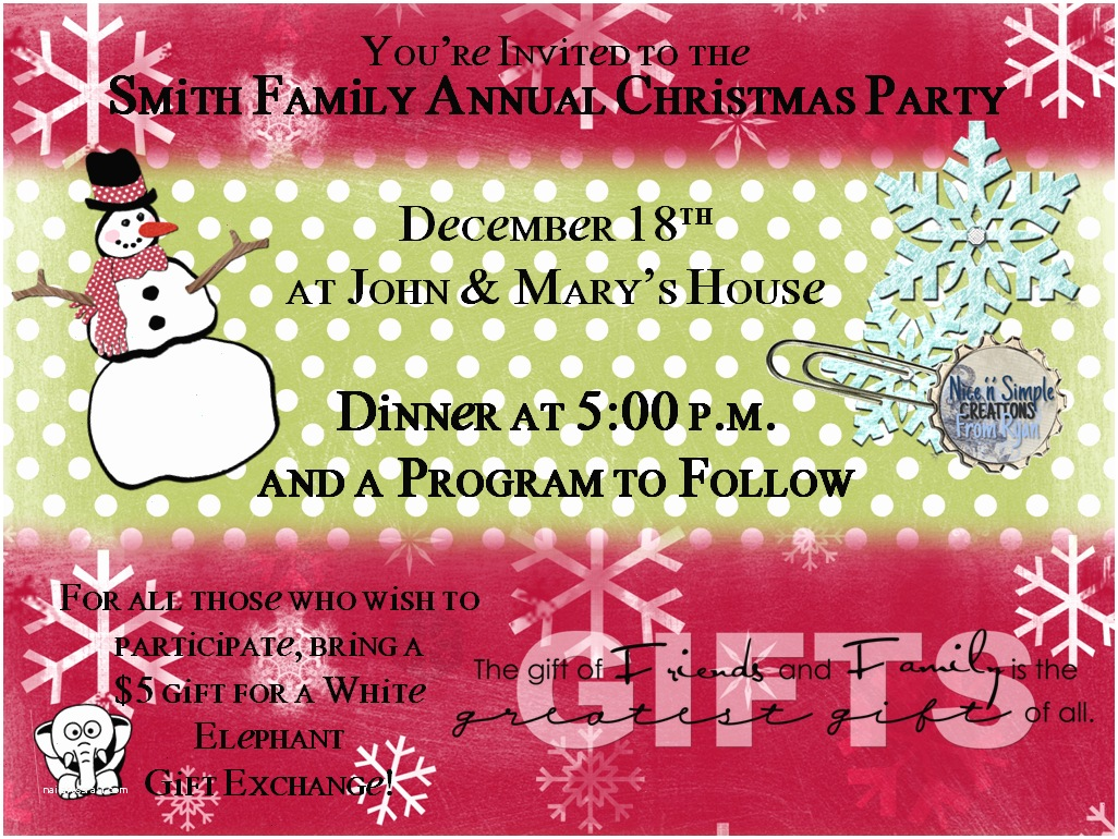 Sample Christmas Party Invitation Sample Invitation Letter for Christmas Party