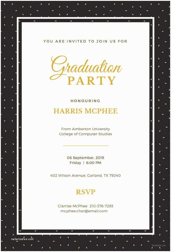 Sample Graduation Invitation 19 Graduation Invitation Templates Invitation Templates