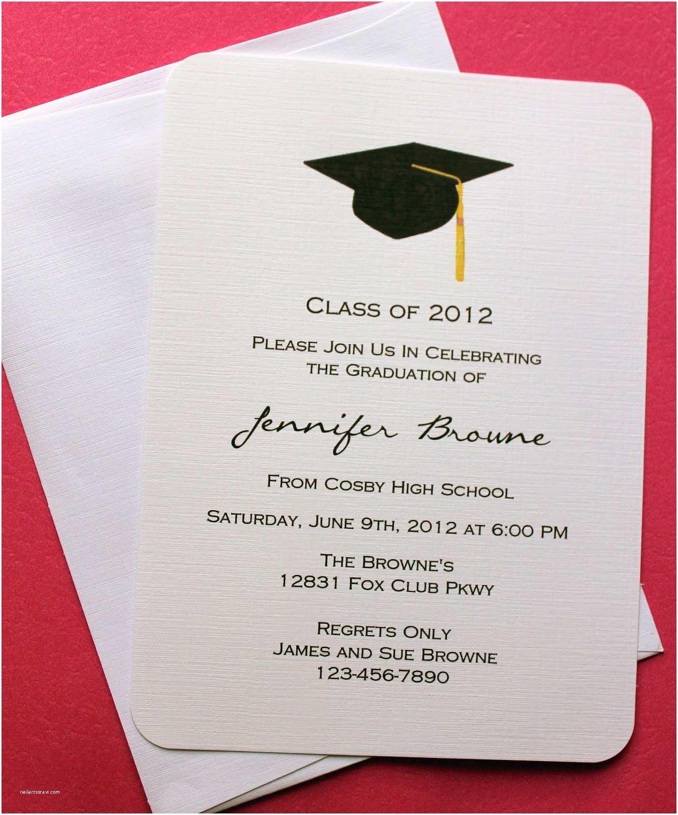 Sample Graduation Invitation Graduation Invitations Templates
