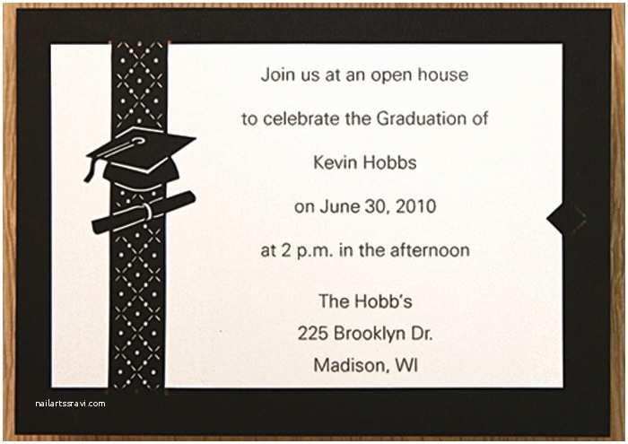 Sample Graduation Invitation Graduation Party Invitations