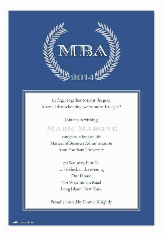 Sample Graduation Invitation High School Graduation Party Invitation Wording Examples