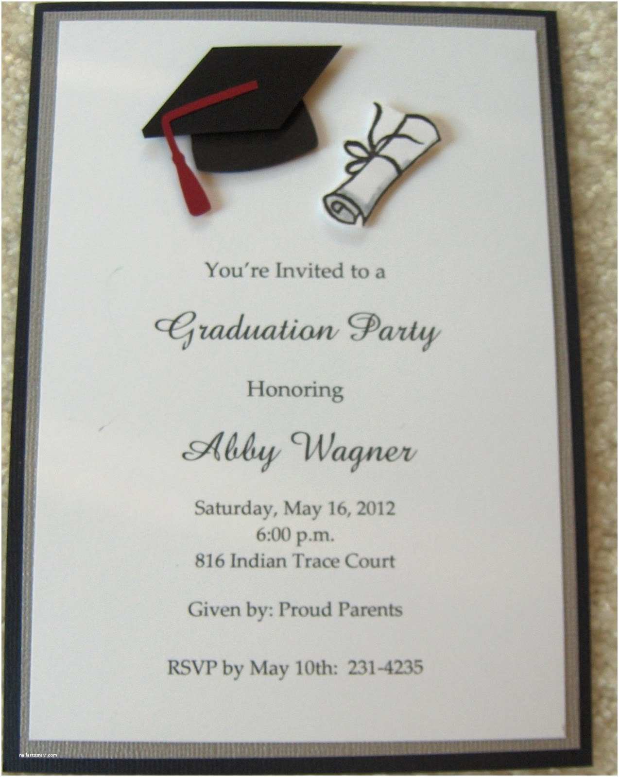 Sample Graduation Invitation Sample Invitation Card for Graduation Ceremony Gallery