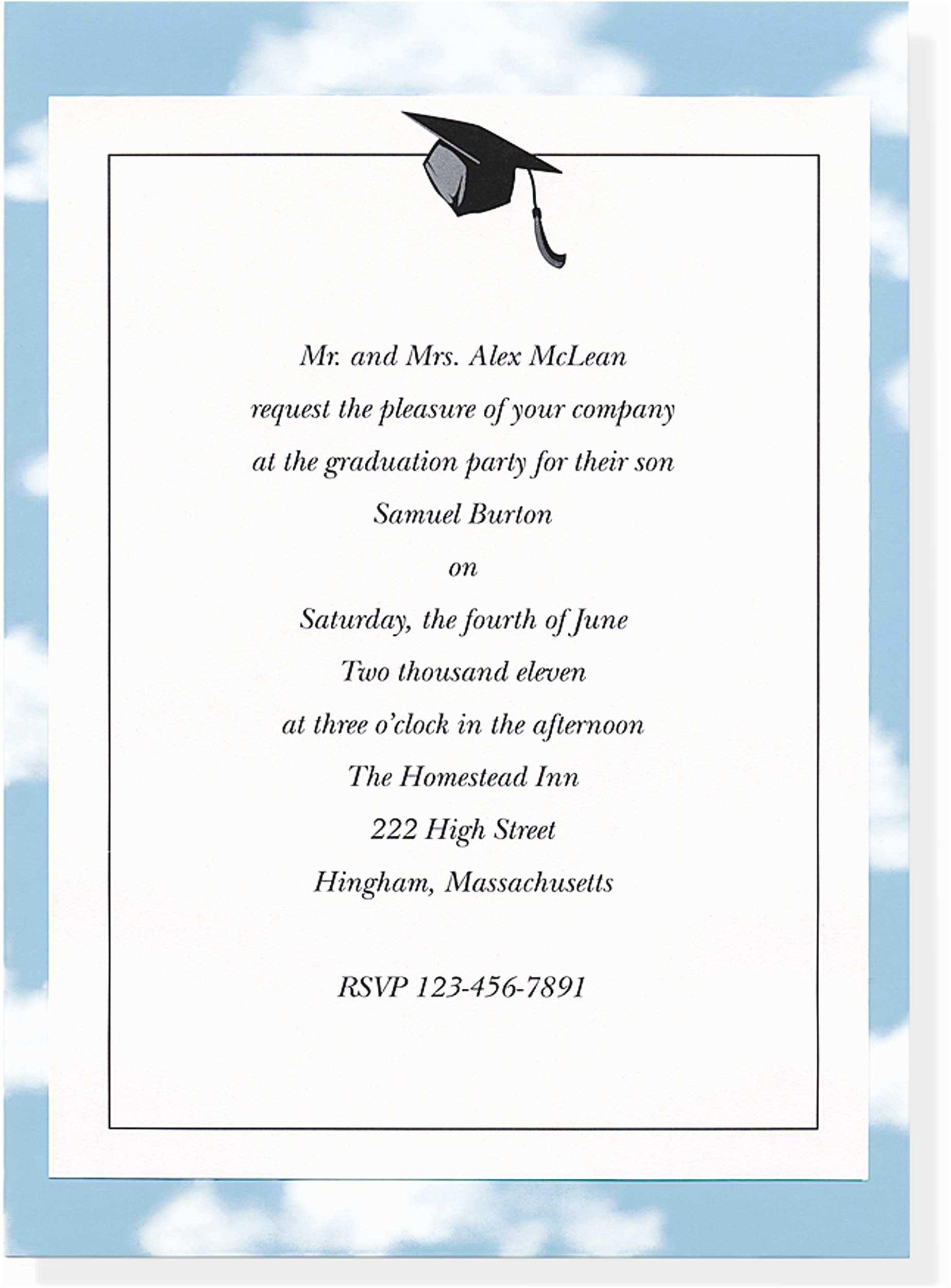 Sample Graduation Invitation Sample Invitations for Graduation Brown Wedding and