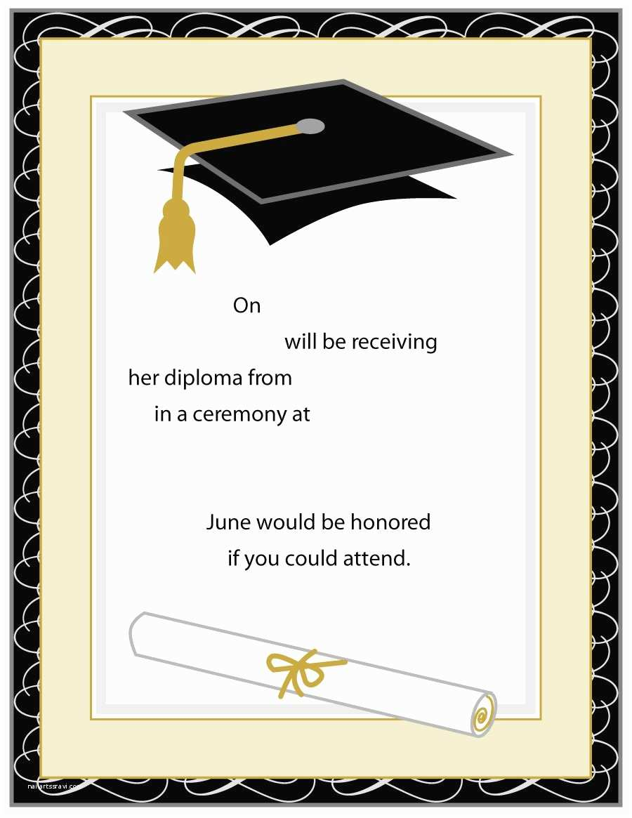 Sample Graduation Party Invitation 40 Free Graduation Invitation Templates Template Lab